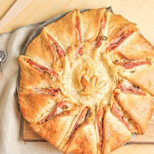 Pizza Girasol de Atún con huevo