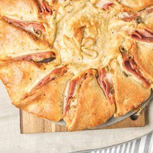Pizza Girasol de Jamón York con Piña